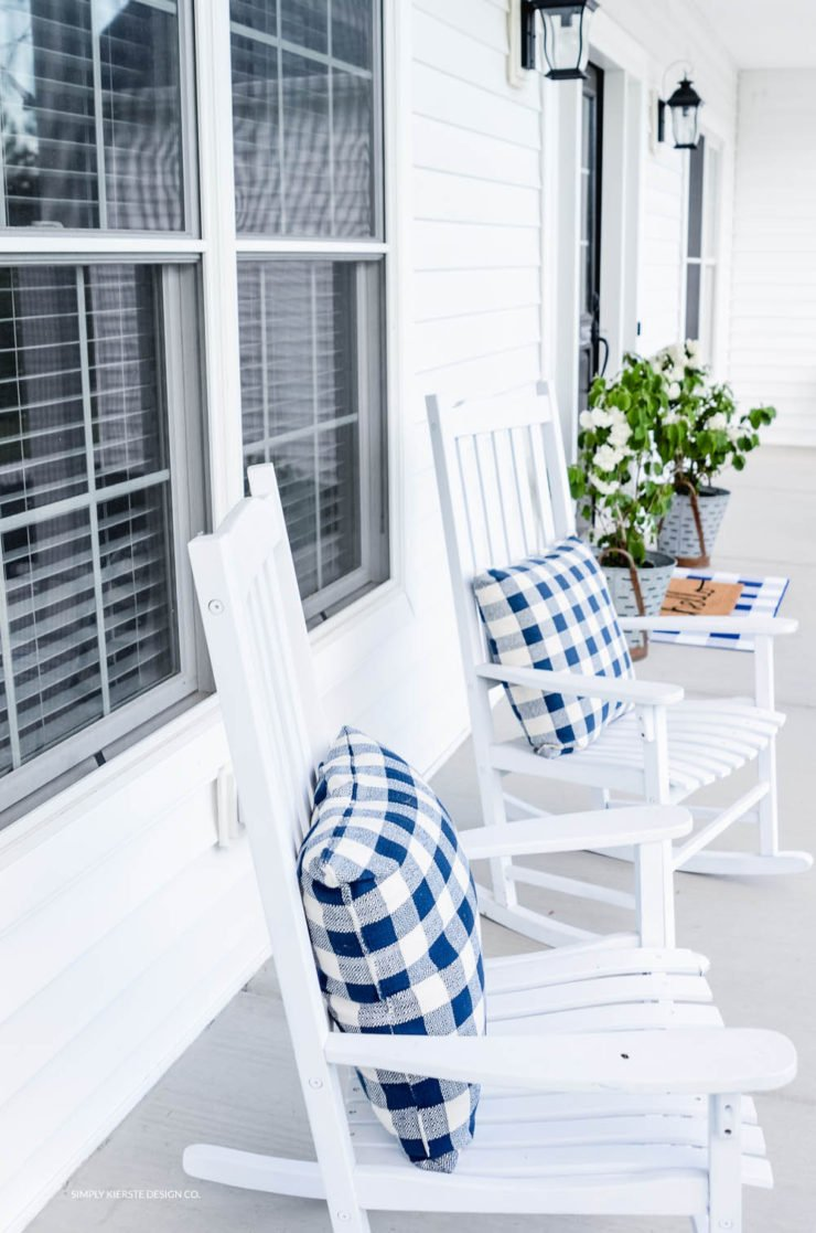 Simple Farmhouse Summer Porch