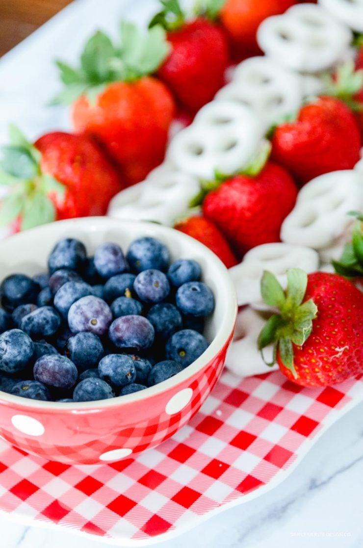 Flag Fruit Platter   4th of July Food Ideas