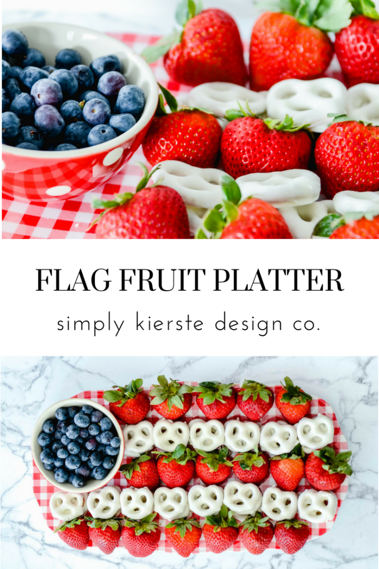 Flag Fruit Platter | 4th of July Food Ideas