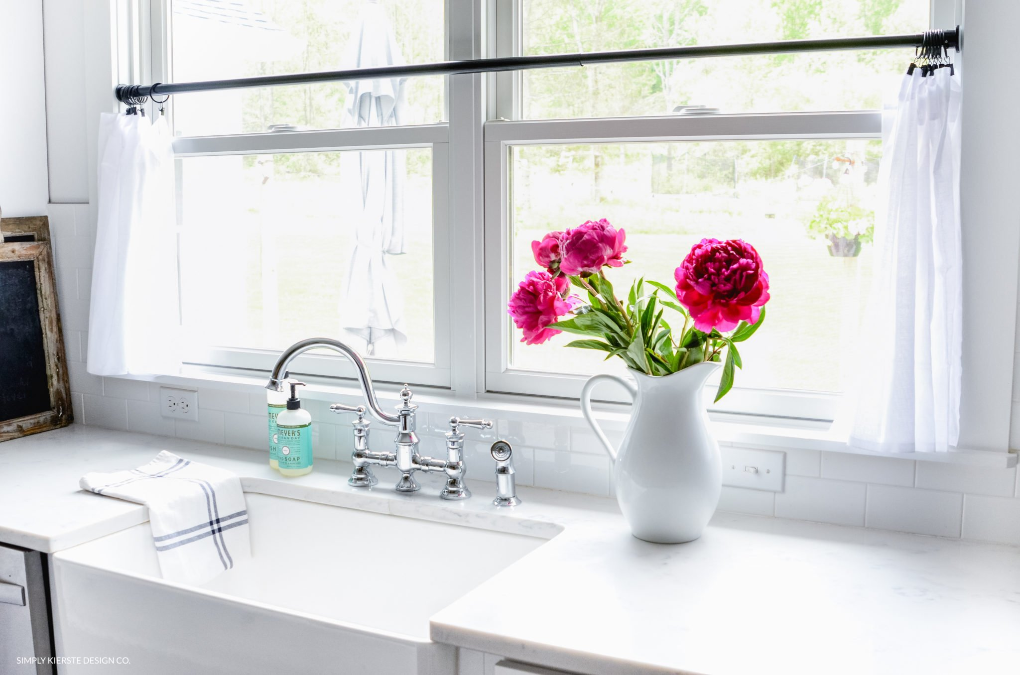 ink peonies summer flowers white curtains