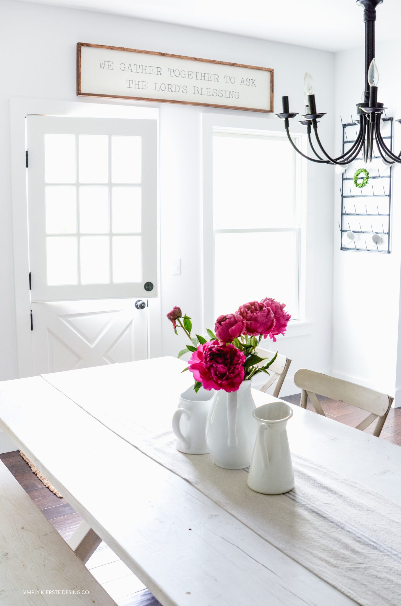 ink peonies summer flowers dutch door
