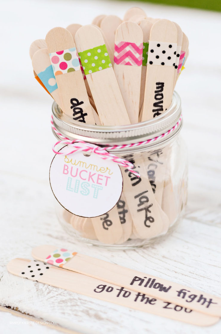 Summer Bucket List in a Jar