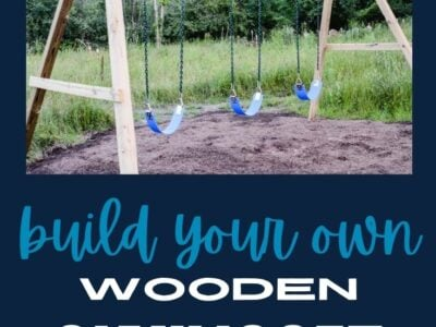 Build Your Own Wooden Swing Set the Easy Way!