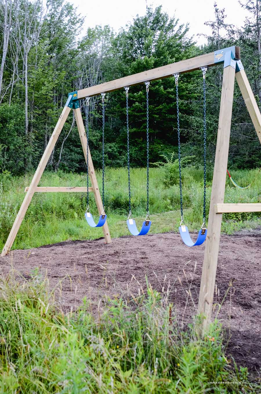 How to Build a Wooden Swing Set…the EASY way!