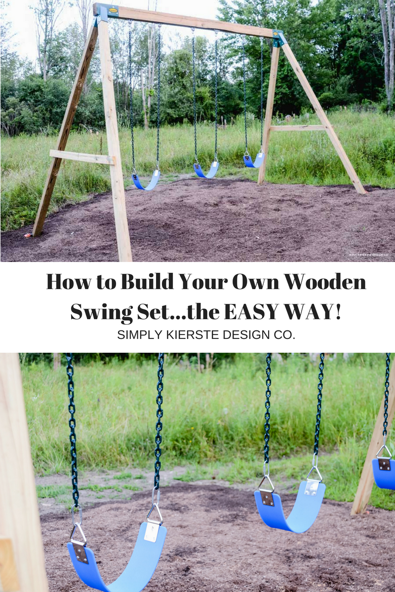 How to Build Your Own Swing Set...the EASY way!