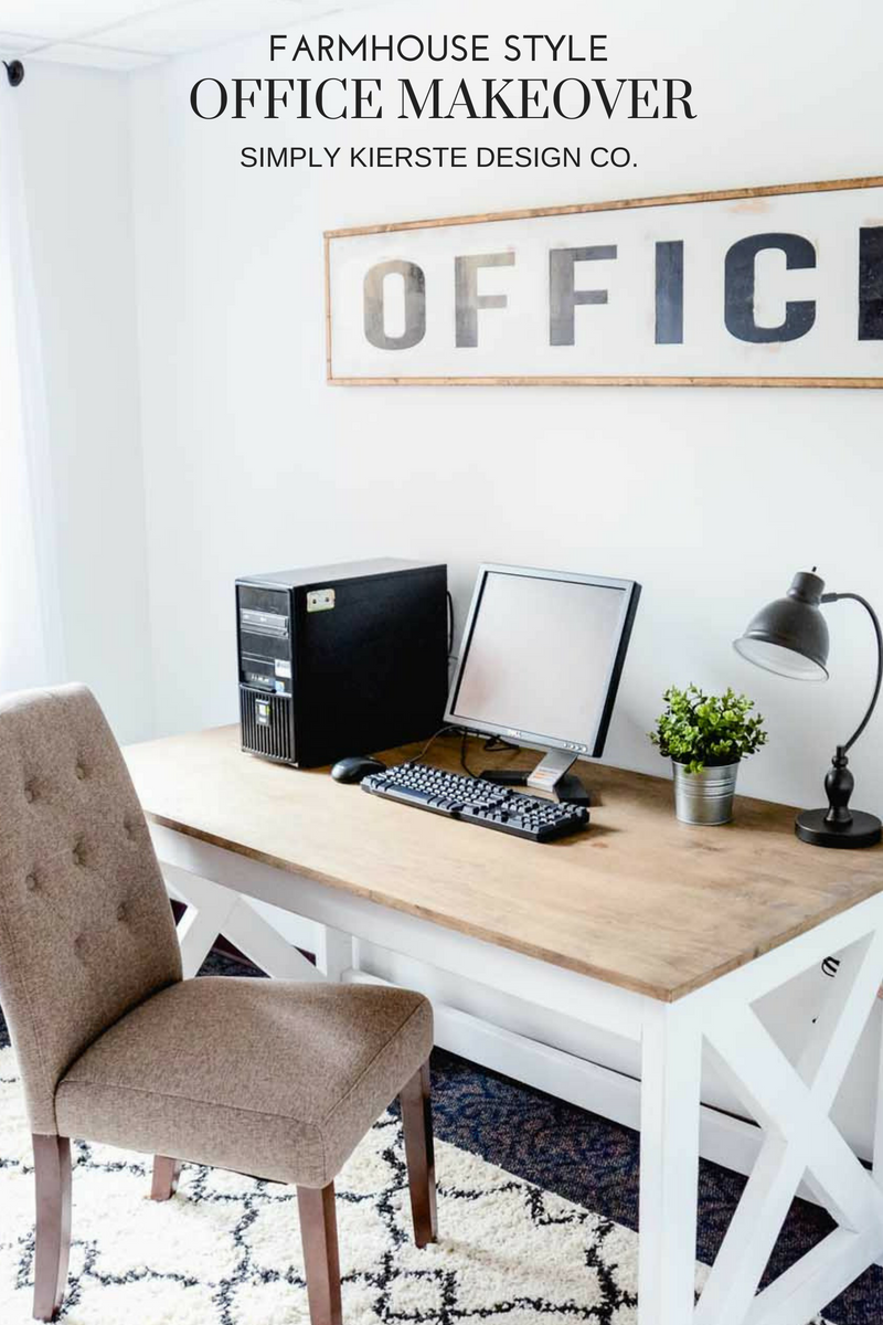 Farmhouse Style Office Makeover | Before & After