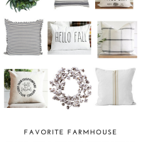 Farmhouse Fall Pillows & Wreaths