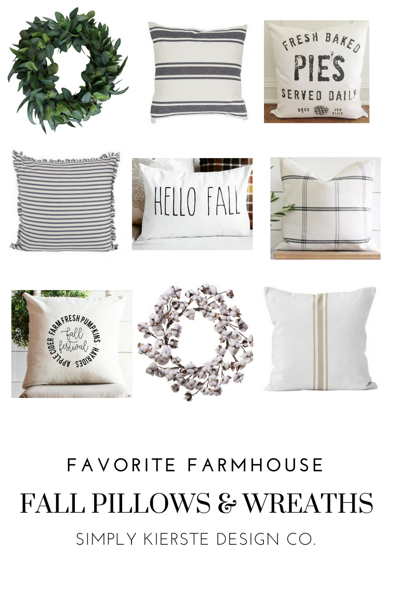 Favorite Farmhouse Pillows & Wreaths