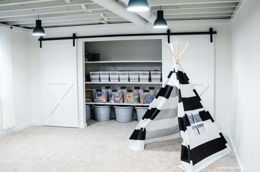 Playroom Organization:  Storage Ideas