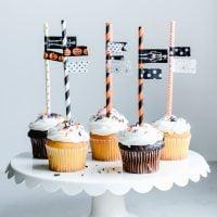 Washi Tape Halloween Cupcake Toppers