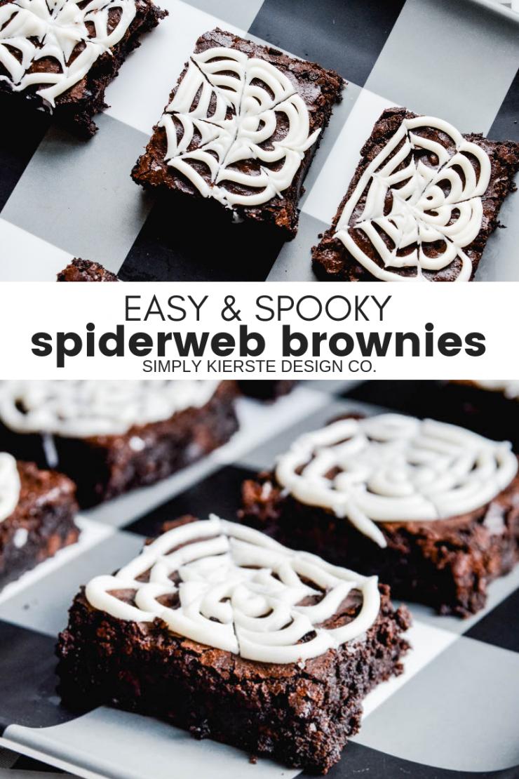 spooky spiderweb brownies easy halloween treats