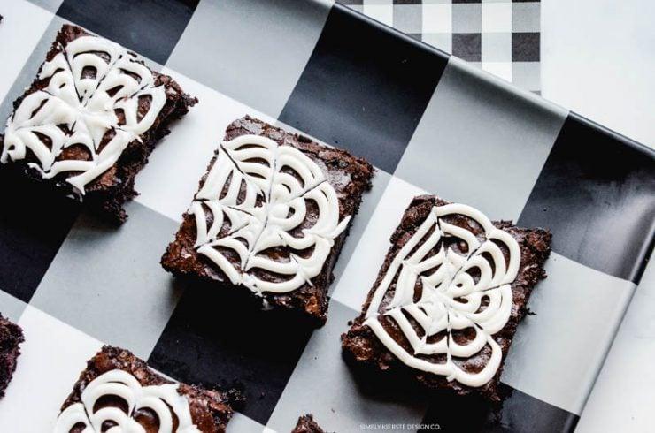Spooky Spiderweb Brownies | Easy Halloween Treats