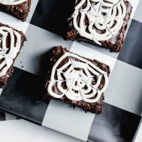 Spooky Spiderweb Brownies:  Easy Halloween Treat