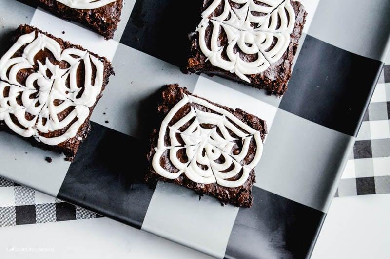 Spooky Spiderweb Brownies:  Easy Halloween Treat