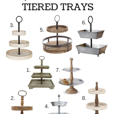 Farmhouse Style Tiered Trays
