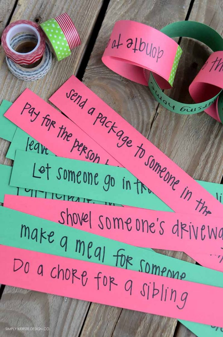 Christmas Kindness Countdown Chain   Service Ideas for Families