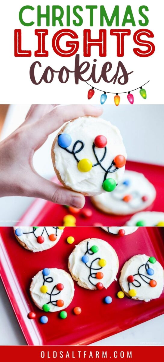 Easy Christmas Lights Cookies