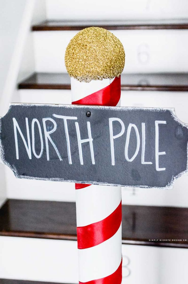 DIY North Pole Sign | Polar Express Party