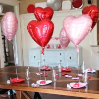 Valentine's Day Morning Ideas | Heart Balloons