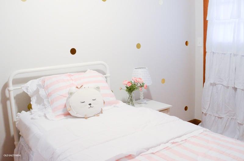 Girl\'s Bedroom Makeover: Before & After | Old Salt Farm
