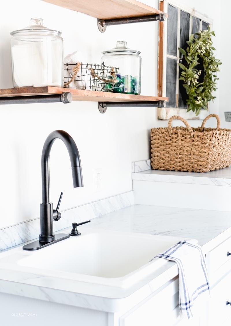 Why I Love My Laundry Room Faucet | Old Salt Farm