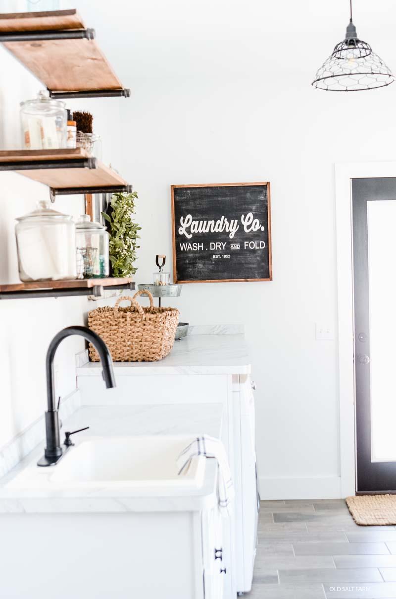 Farmhouse Laundry Room & Mud Room