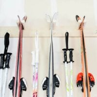 Easy DIY Ski Storage Rack