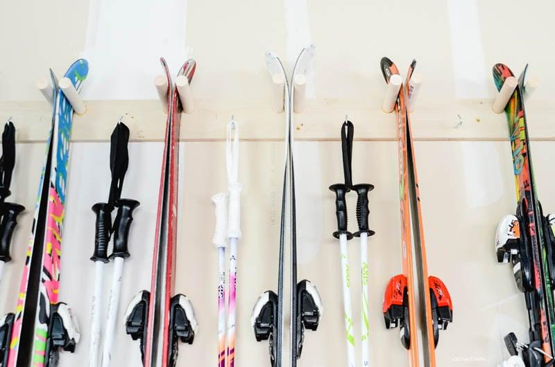 Easy DIY Ski Storage Rack