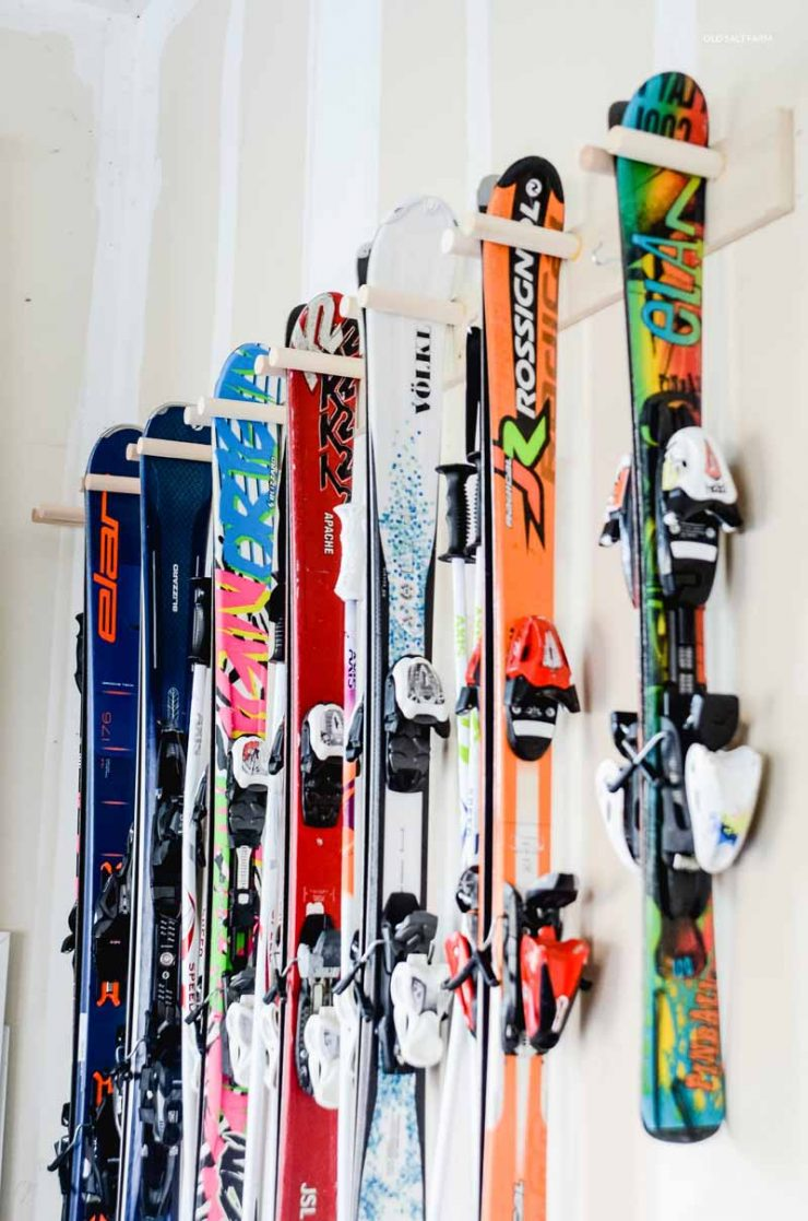 DIY Ski Storage Rack