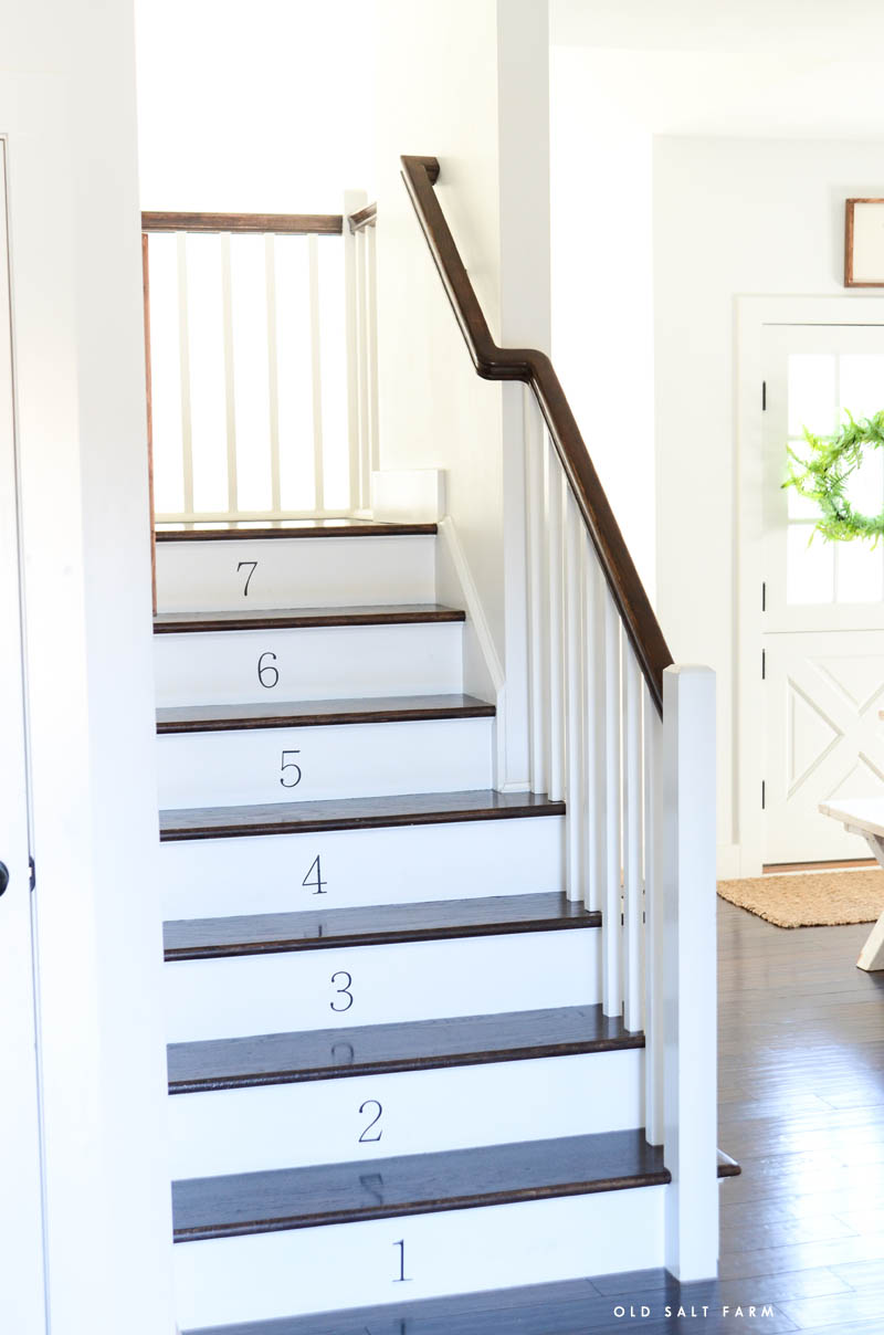 Farmhouse Numbered Stairs