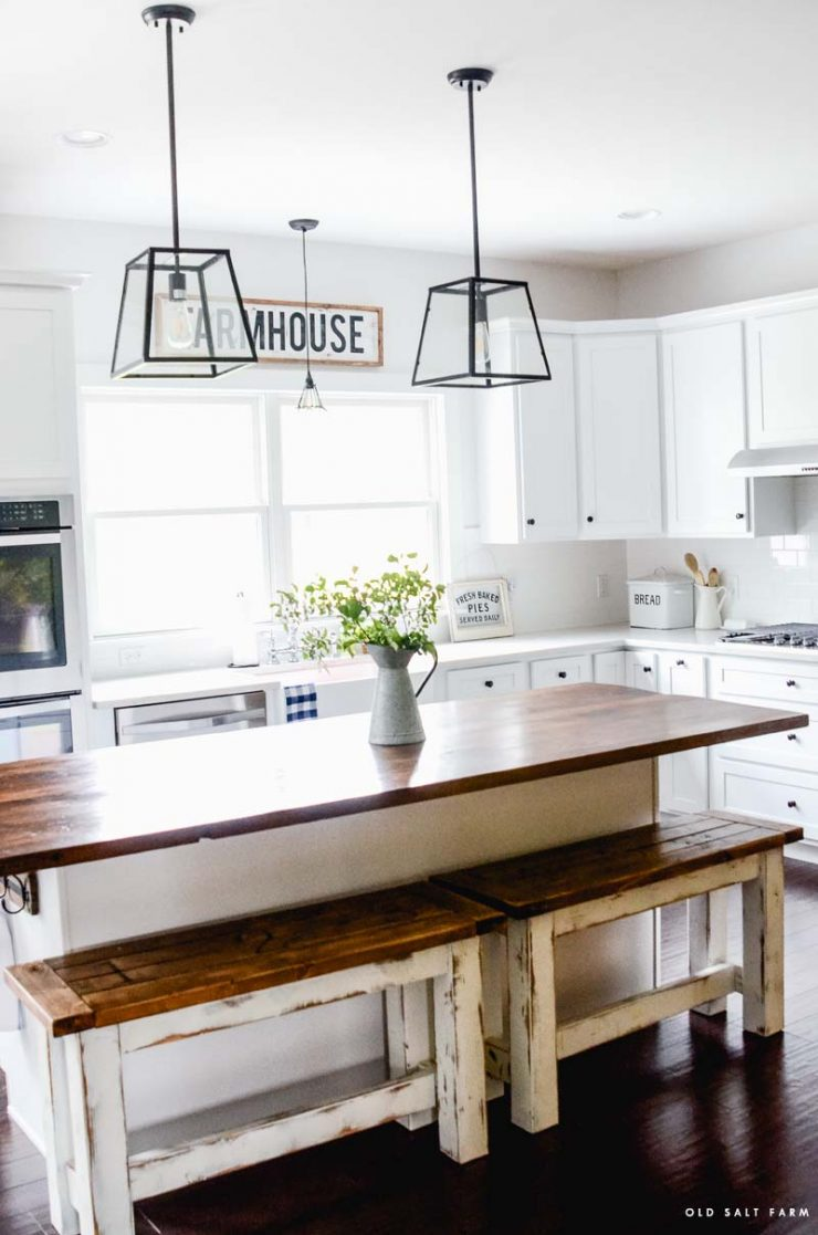 DIY Barn Wood Kitchen Island