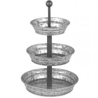 Galvanized Metal Tiered Serving Tray