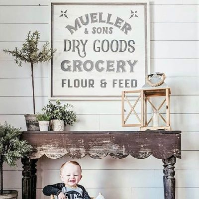 Dry Goods and Grocery Farmhouse Sign
