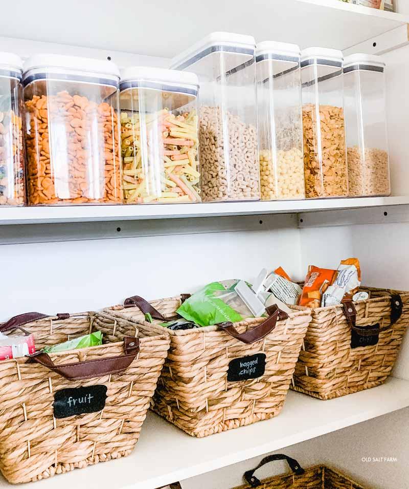 Easy Kitchen Pantry Organization