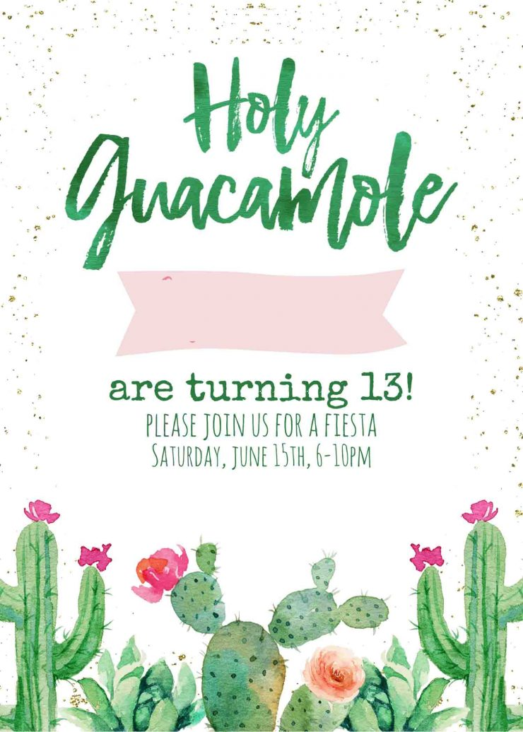 Holy Guacamole Fiesta Invitation
