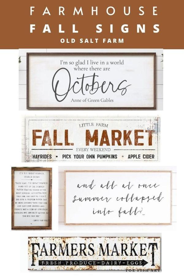 Farmhouse Fall Signs