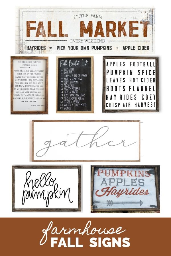 Farmhouse Fall Signs