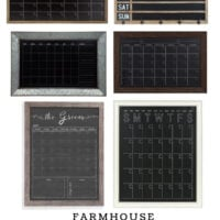 Farmhouse Chalkboard Wall Calendar