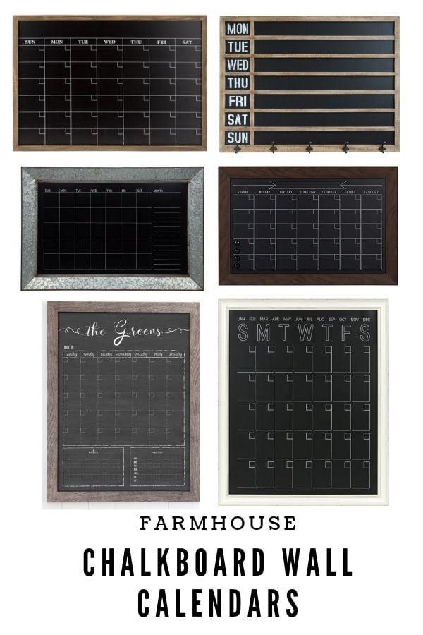Farmhouse Chalkboard Wall Calendars