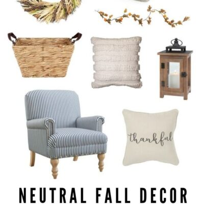Neutral Fall Decor Favorites
