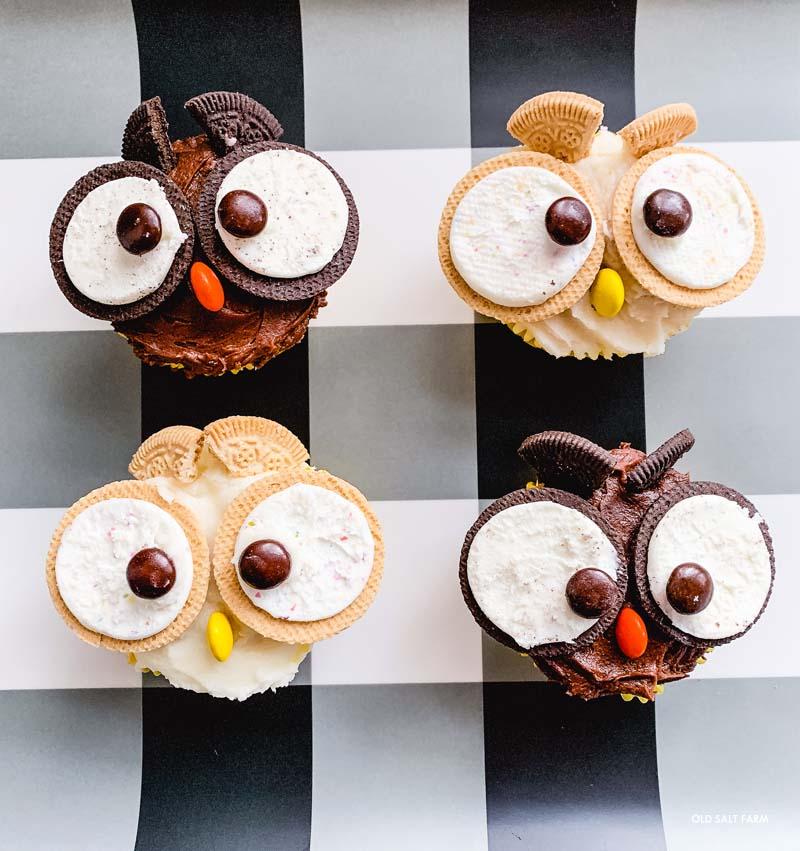 Owl Cupcakes:  Fall & Halloween Treats