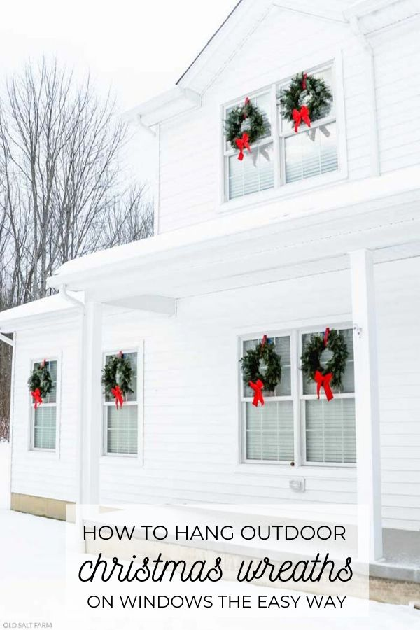 How To Hang Outdoor Wreaths on Windows