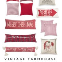 Vintage Farmhouse Christmas Pillows