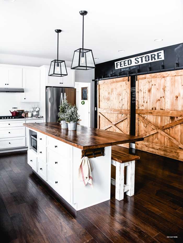 Farmhouse Christmas Home Tour | Pantry Barn Doors
