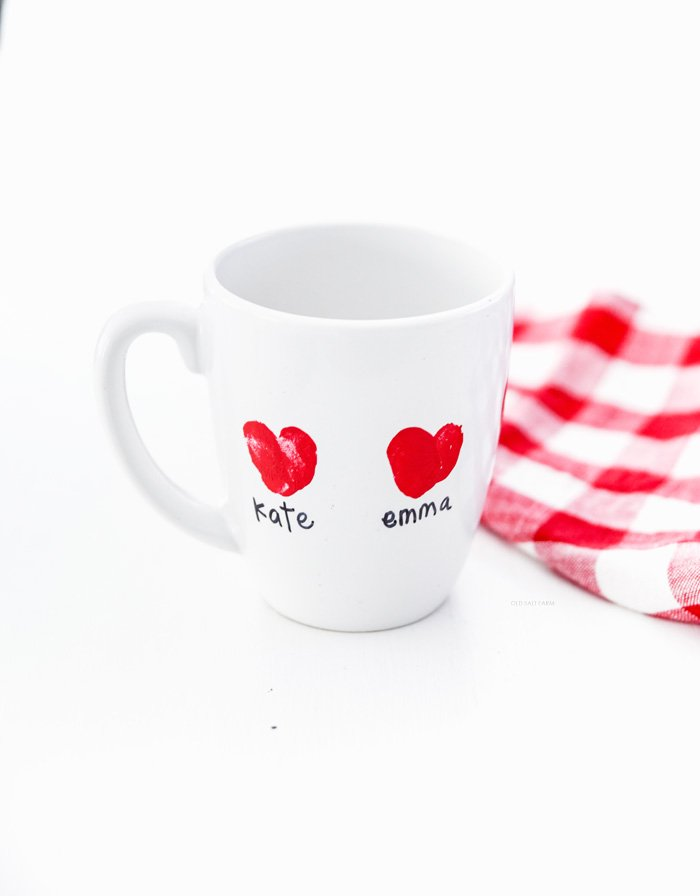 Heart Thumbprint Mug | Valentine's Day Gift Idea