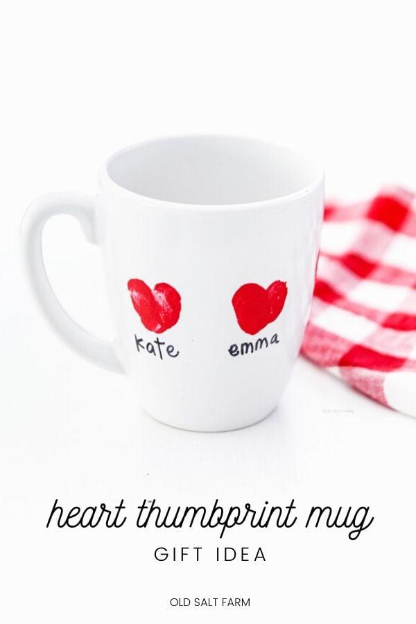 Heart Thumbprint Mug