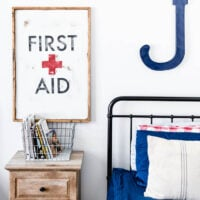DIY First Aid Sign Vintage Style