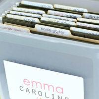 School Papers Storage Organization Idea