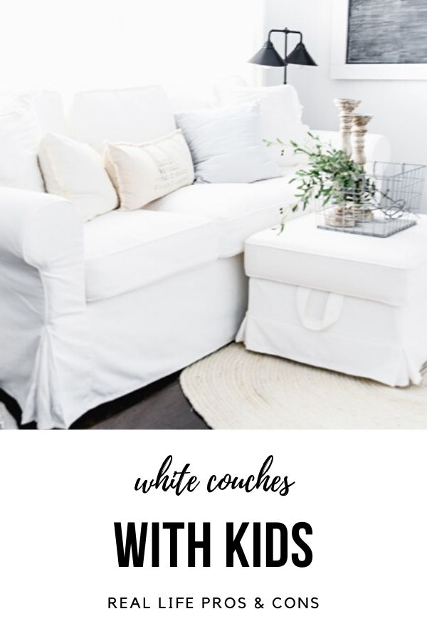 White Couches with Kids