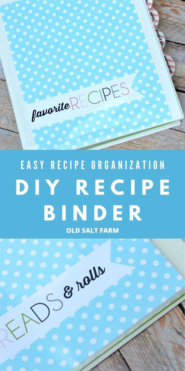 DIY Recipe Binder and Printables